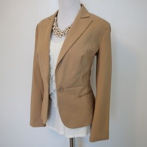 WORTHINGTON Size 2 Camel Brown Suit Jacket Blazer